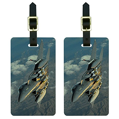 US Airforce F-15 Strike Eagle Luggage Tags Suitcase Carry-On ID Set of 2