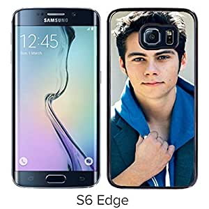 dylan o brien Black Samsung Galaxy S6 Edge Screen Cover Case Luxurious and Fashion Design