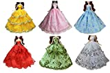 Embroidery lace design 1 / 6 doll dolls dress up Couture set dress up clothes collector (6 items)