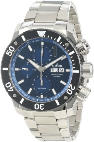 Edox Men's 01115 3 BUIN Class 1 Automatic Stainless Steel Chrono Rotating Bezel Watch