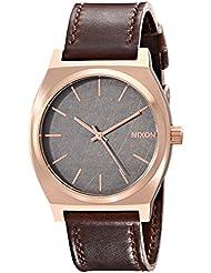Nixon Time Teller Rose Gold / Gunmetal / Brown Unisex Watch (37mm. Rose Gold/Gunmetal Face/Brown Leather Band)