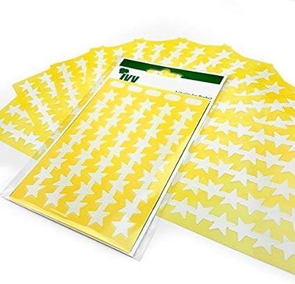 Blanco Estrellas Manualidades Estrella Adhesivos - Fácil de ...