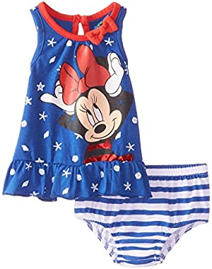 Baby-Girls Minnie Mouse Dress with Panty Set