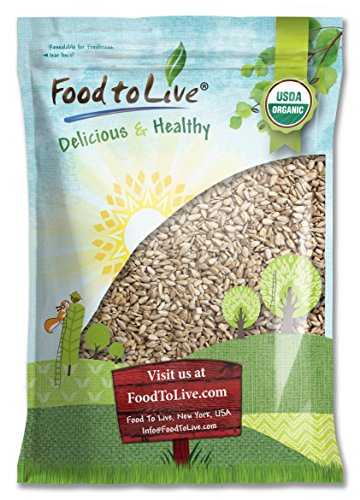 Organic Sunflower Seeds by Food to Live (Raw, Kernels, No Shell, Kosher, Bulk) — 12 Pounds