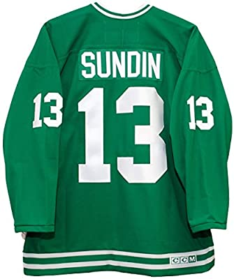 Mats Sundin Toronto St. Pats Green CCM Jersey Sewn Tackle Twill Name and Number