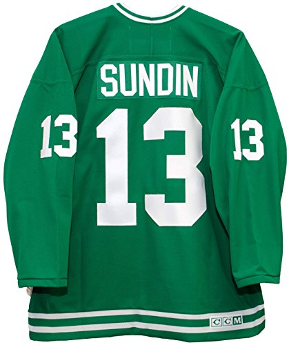 (Mats Sundin Toronto St. Pats Green CCM Jersey Sewn Tackle Twill Name and Number (XL))