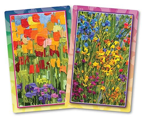 Springbok Puzzles Flourishing Flowers Bridge Playing Cards
