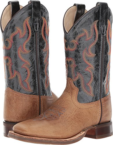 Old West Kids Boots Unisex Broad Square Toe (Toddler/Little Kid) Tan Fry 2 3 Little Kid M M