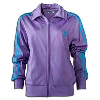 Adidas Firebird Women`s Track Jacket - Super Purple / Super Cyan
