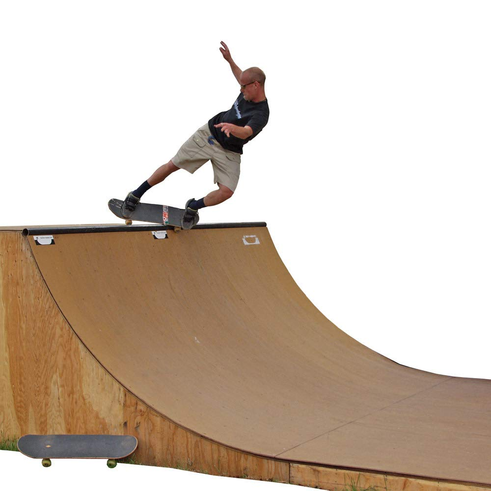 Skate Board Ramp >> Amazon Com Traceable 6 Foot Tall Halfpipe Skateboard Ramp Template