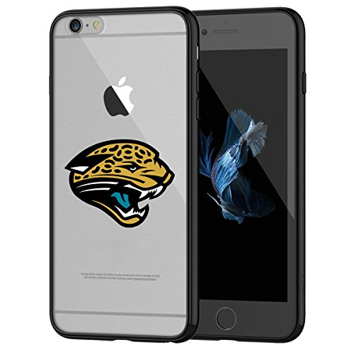 Jaguars iPhone 6s Tough Case, Shock Absorption TPU + Translucent Frosted Anti-Scratch Hard Backplate Back Cover for iPhone 6 / 6s - Black
