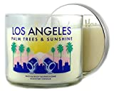 Bath & Body Works Candle 3 Wick 14.5 Ounce Los Angeles Palm Trees & Sunshine