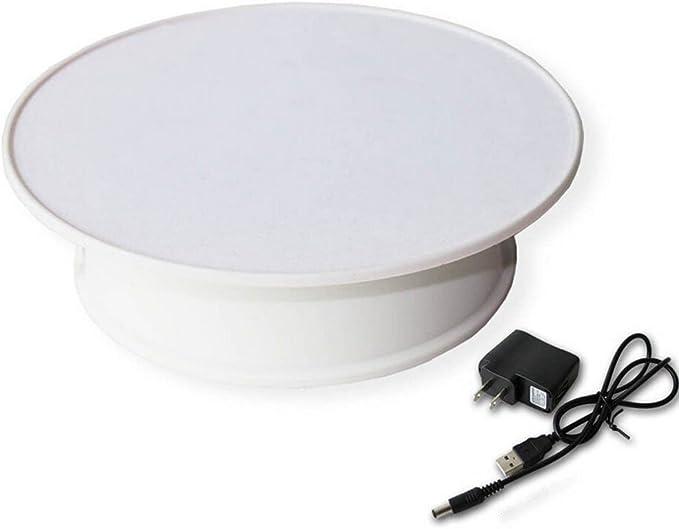 /Électrique Turntable Display Stand pour Bijoux Montre ZC Dawn Motoris/é Rotating Mirrored Display Stand Produit Num/érique,Blanc