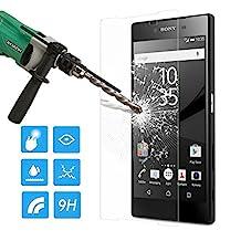 Sony Xperia Z5 Screen Protector, MoKo HD Clear [Tempered Glass] Screen Protector for Sony Xperia Z5 5.2 Inch, Scratch Proof Anti-Bubble Glass Film - Lifetime Warranty