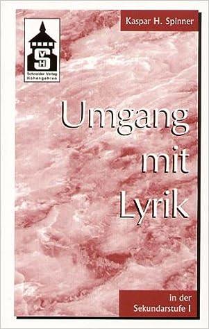 Umgang Mit Lyrik In Der Sekundarstufe I Lernmaterialien