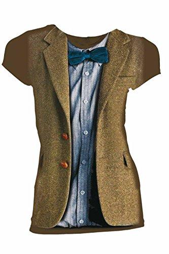 [Doctor Who Matt Smith 11th Doctor Costume Juniors T-Shirt (XX-Large)] (Matt Smith Costume)