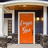 Victory Corps Congrats Grad Orange - Outdoor GRADUATION Garage Door Banner Mural Sign Décor 36'' x 80'' One Size Fits All Front Door Car Garage -The Original Holiday Front Door Banner Decor