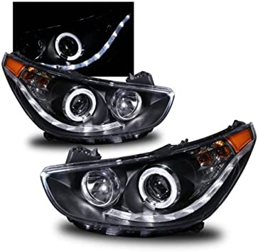 Amazon.com: SPPC Projector Headlights Black Assembly Set with Halo for Hyundai  Accent 4 Door/Hatchback - (Pair) Driver Left and Passenger Right Side Replacement  Headlamp: Automotive | Hyundai Accent 2012 Headlight Bulb |  | Amazon.com
