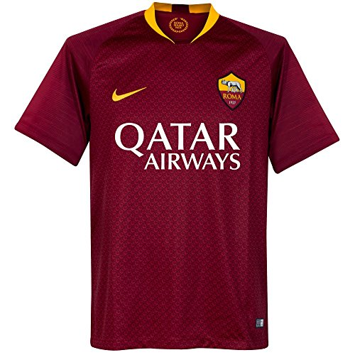 Nike 2018/19 Mens AS Roma Home Stadium Replica Jersey Medium Maroon/Gold