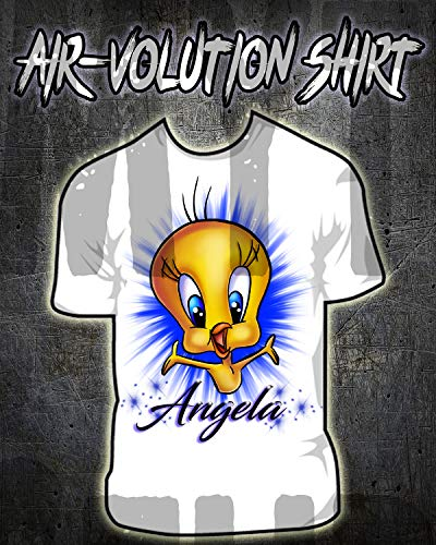 Personalized Airbrush Tweety Bird Shirt