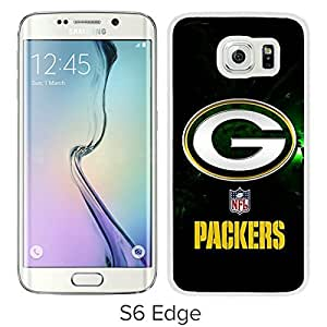 Unique Samsung Galaxy S6 Edge Screen Case ,Popular And Durable Designed Case With Green Bay Packers 40 White For Samsung Galaxy S6 Edge Phone Case Great Quality Cover Case