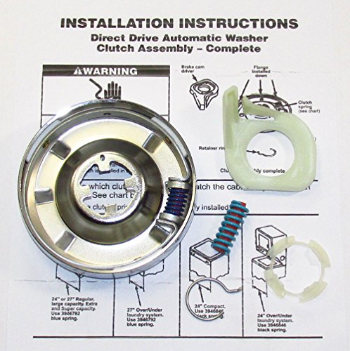 3946847 WASHER CLUTCH KIT FOR WHIRLPOOL KENMORE SEARS ROP...