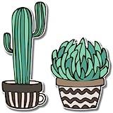 Cacti Set Cute Trendy Vinyl Sticker - Car Phone Helmet - SELECT SIZE