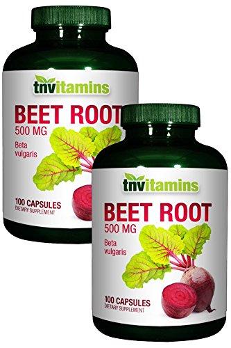 TNVitamins Beet Root 500 Mg -2x100 Capsules