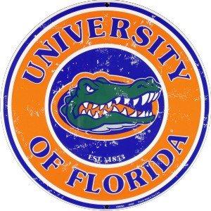 Florida Gators 12 Inch Embossed Metal Nostalgia Circular Sign ()