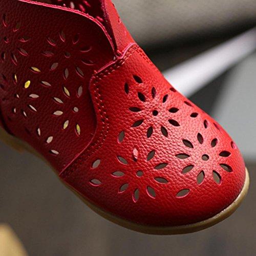 Igemy 1 Paar Baby Mädchen Double Velour Soft Sole Schuh Soft Flats Schuhe Rot