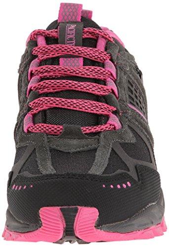 Scarpe Da Trail Running Da Donna Trail Trail Pacifico Di Colore Grigio Scuro / Nero / Rosa