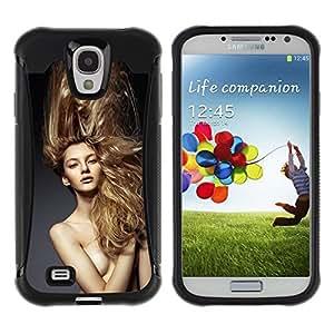 Suave TPU GEL Carcasa Funda Silicona Blando Estuche Caso de protección (para) Samsung Galaxy S4 IV I9500 / CECELL Phone case / / Blond Hair Naked Woman /