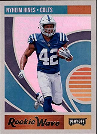 separation shoes a8ffb 3d9a9 Amazon.com: 2018 Playoff NFL Rookie Wave #13 Nyheim Hines ...