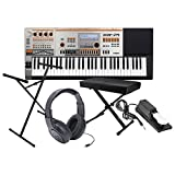 Casio XW-P1 61 Key Performance Synthesizer w/ Bench, Stand, Sustain Pedal, and Headphones
