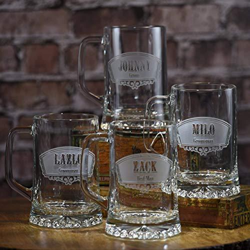Groomsmen Gift Ideas, Best Man Beer Mugs Set of -