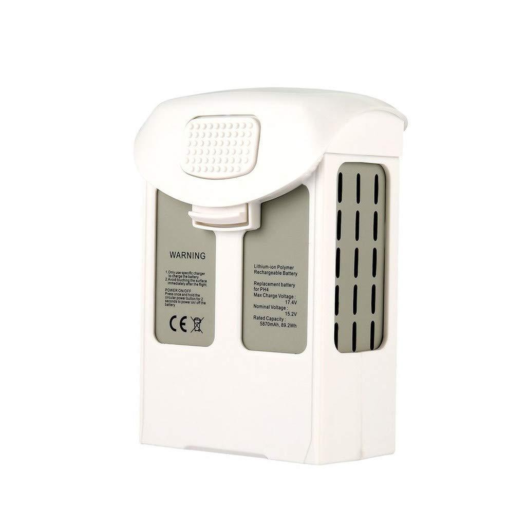 Intelligent Flight Lipo Battery 5870mAh 15.2V for DJI Phantom 4 Series Quality Assurance (White) by Aurorax Electric (Image #1)