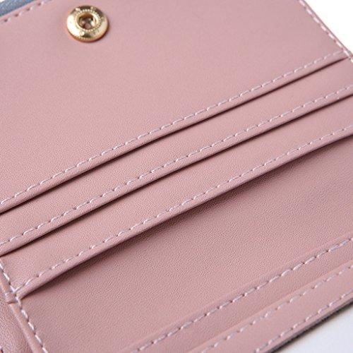 Simple Nera Borsa Wallet Lady Chiaro New Grigio In A Moneta Pelle Mano Piccola Bifold Nappa Donna Junlinto q6vFtw