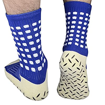 Yijiujiuer Men's Athletic Soccer Socks, Non Slip Sports Ankle Socks with Grips