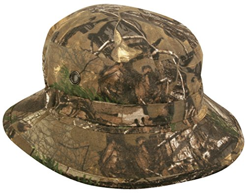 (Realtree Camouflage Boonie Hat with Adjustable Chin Strap)