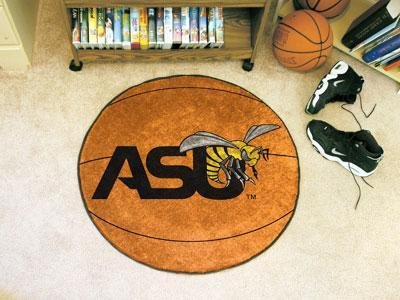 Alabama State University Basketball Rug (State University Basketball Area Rug)