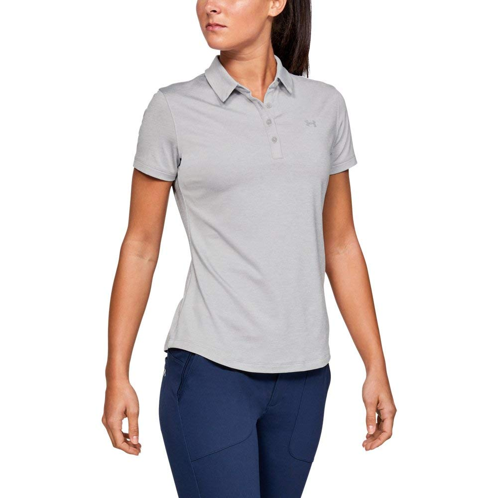 Under Armour Womens Zinger Short Sleeve Golf Polo, Mod Gray (011)/Mod Gray, X-Small