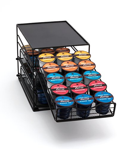 Lipper International 8670 In-Cabinet Coffee Pod Drawer, 3-Tier, 45-Pod Capacity, Black by Lipper International (Image #4)