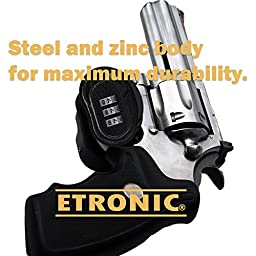 Etronic  Gun Lock G7 Resettable Combination Gun Trigger Lock