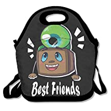 Copdsa Tiny Box Tim And Septiceye Sam! Insulated Personalized Tote Lunch Food Bag Black