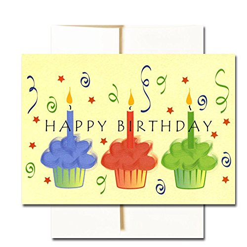 Happy Birthday Cards  Assortment - Box of 30 Blank Note Cards - 6 Colorful Designs - and 32 Envelopes Photo #6