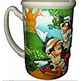 Disney Animal Kingdom Mickey Mouse & Goofy Coffee Cup Mug