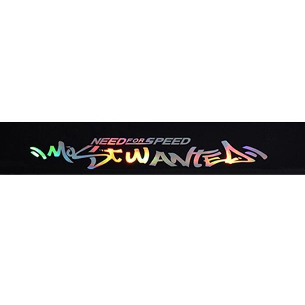 SUNSETGLOW Auto Sun Visor Adesivi Decorativi Adesivo per la Protezione del Sole Nuovo Laser Lettere Riflettenti PVC Parabrezza Banner Strip Racing Adesivo Striscia Anteriore Anteriore lunotto