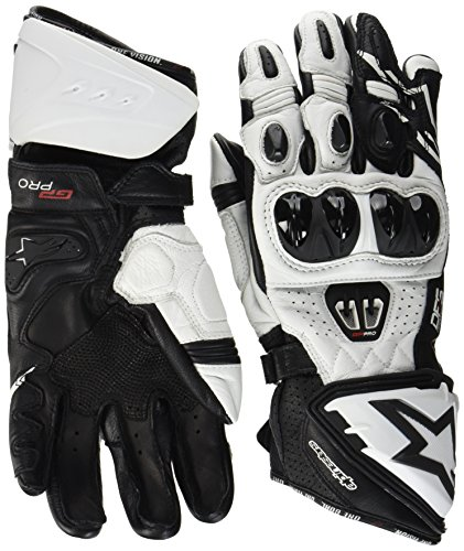 Alpinestars Men's GP Pro R2 Leather Glove (Black/White, X-Large)