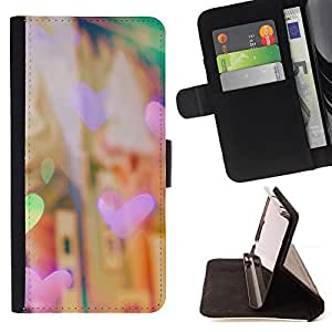 BullDog Case - FOR/Samsung ALPHA G850 / - / heart fair night city lights city vignette /- Monedero de cuero de la PU Llevar cubierta de la caja con el ID Credit Card Slots Flip funda de cuer