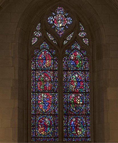 Photograph| Stained-glass window, one of 77, in the Duke University Chapel on the campus of the university in Durham, North Carolina 2 Fine Art Photo Reproduction 16in x 20in